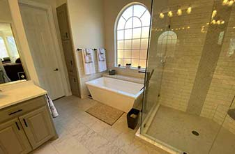 Bathroom Remodel project by simmons floor covering