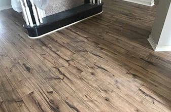 Shaw Laminate - Style: Kendall - Color: Lumberjack Hickory - Location: Lantana, Texas 77226